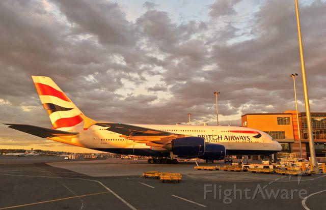 Airbus A380-800 (G-XLEH) - Super Sunset