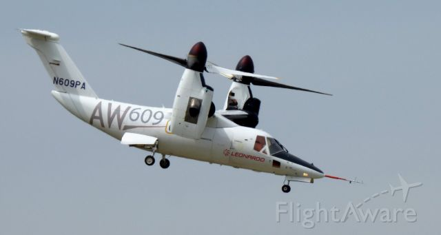 Bell BA-609 (N609PA) - Shortly after departure from the Leonardo Helo facility is this 2016 AgustaWestland Tiltrotor Aircraft in the Spring of 2020.