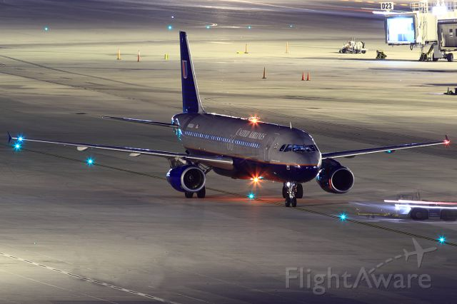 Airbus A320 (N405UA) - Just getting pushed back and heading out for Chicago!