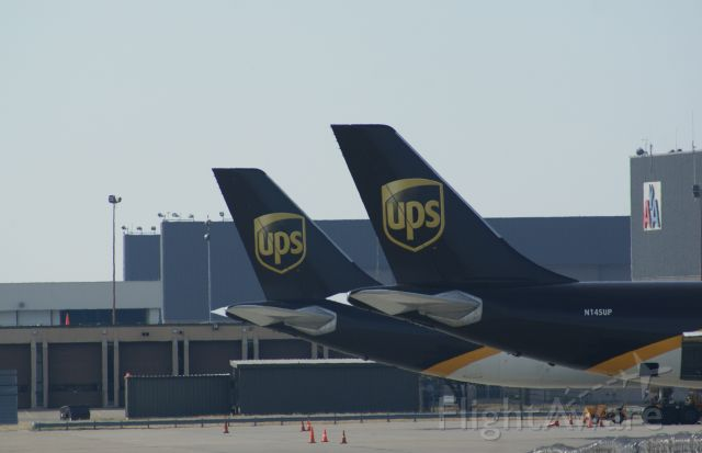 Airbus A300F4-600 (N145UP) - UPS Planes at the DFW hub.