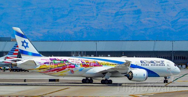 "Boeing 787-9 Dreamliner (4X-EDD) - 4X-EDD El Al Israel Airlines Boeing 787-9 Dreamliner s/n 63392 ""Haifa"" - Inaugural Flight<br />Las Vegas - McCarran International (LAS / KLAS)<br />USA - Nevada, June 14, 2019, <br />Photo: Tomás Del Coro"