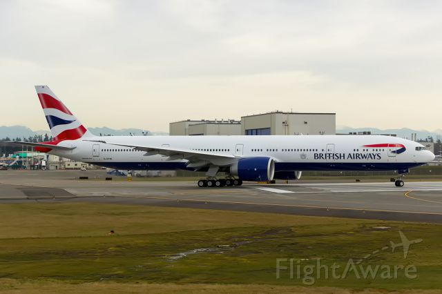 Boeing 777-200 (G-STBI) - G-STBI lining up for its maiden flight.