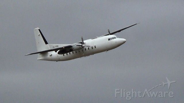 FAIRCHILD HILLER FH-227 (ZK-POH) - Fokker F-27-500 Friendship during low fly-by. Cargo plane for NZ Post.