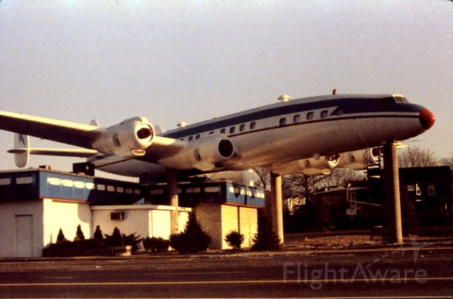 — — - Super Connie on the Constellation Lounge in Penndel, PA. Restaurant dismantled in July of 1997. Photo snapped in early 90s.