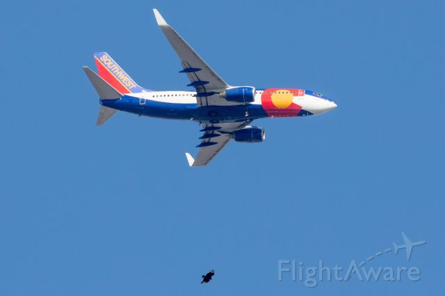 Boeing 737-700 (N230WN) - Black vulture below SWA N230WN.
