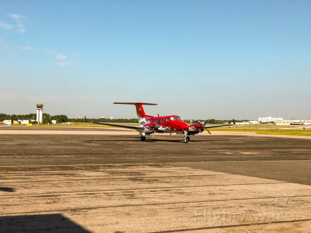 Beechcraft Super King Air 200 (N43GJ) - On line at PNS, Pensacola Aviation Center.  7/31/2019