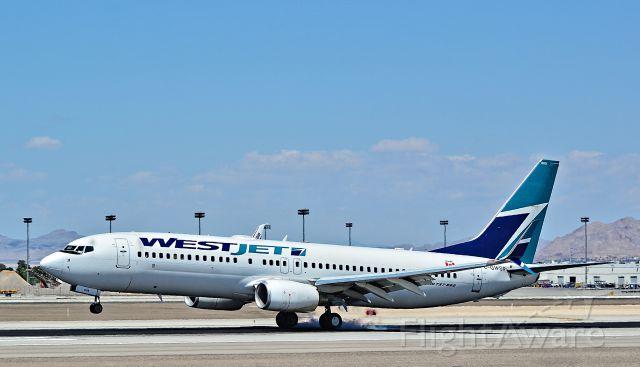 Boeing 737-800 (C-GWSR) - C-GWSR Westjet Boeing 2009 737-8CT - cn 35288 / ln 2802 - Split Scimitar Wingletbr /br /Las Vegas - McCarran International Airport (LAS / KLAS)br /USA - Nevada May 10, 2015br /Photo: Tomás Del Coro