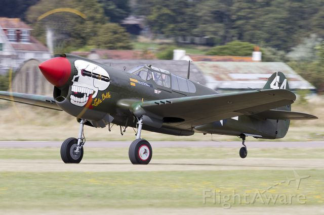 G-KITT — - Curtiss P-40M Warhawk G-KITT/210855 [cn.27490]. Owned and flown by Peter Teichman from Hanger 11, seen here in takeoff roll at the RAFA Charity Shoreham EGKA Airshow in Sussex England 1.9.2013. a rel=nofollow href=http://www.flyer1dighton.co.ukwww.flyer1dighton.co.uk/a