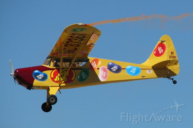 N37361 — - The Jelly Belly S-1A-65F Cadet completing a show between races at the 2010 National Championship Air Races in Reno.