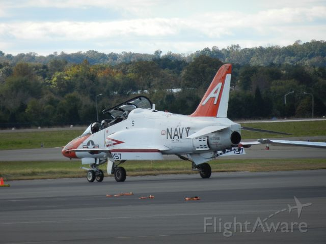16-5599 — - A T-45 Goshawk Of The United States Navy/Marine Corps Starting Up Sitting On The Ramp