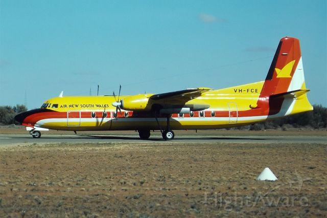 VH-FCE — - AIR NEW SOUTH WALES - FOKKER F-27-500F FRIENDSHIP - REG : VH-FCE (CN 10558) - BROKEN HILL NSW. AUSTRALIA - YBHI (24/4/1983)