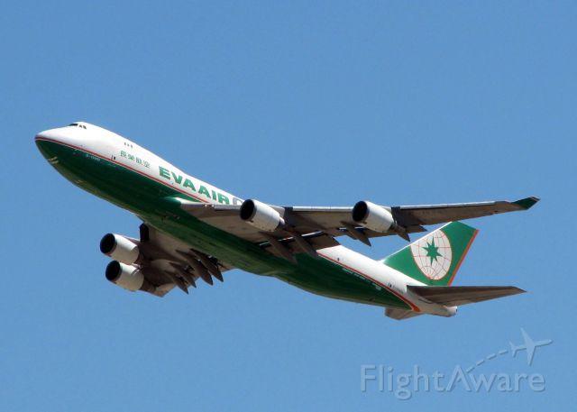 Boeing 747-400 (B-16483) - Departing DFW.