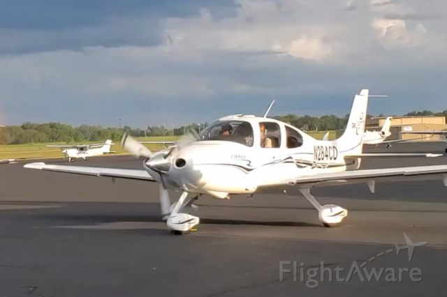 "Cirrus SR-22 (N284CD) - RS Spencer welcomes the club's ""new"" SR22 to our current home base."
