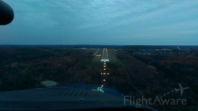 — — - MY final approach into Francis S. Grebranski Airport