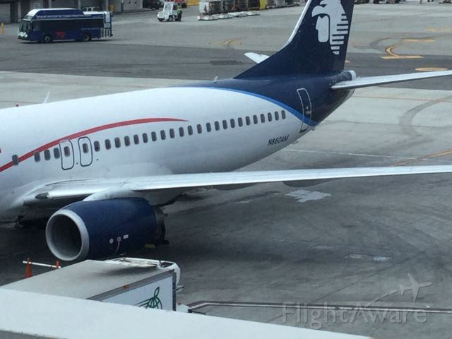 Boeing 737-700 (N860AM) - The Boeing 737-800 enjoying its service before its returning flight back to Mexico.