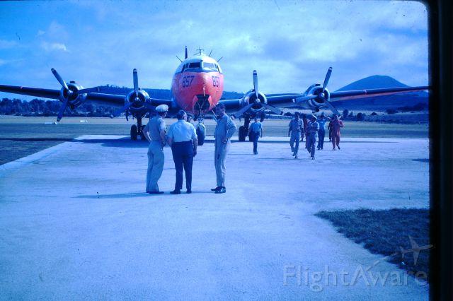 Douglas C-54 Skymaster (50-8857) - US Navy C-54 at Flinders Island, circa 1964