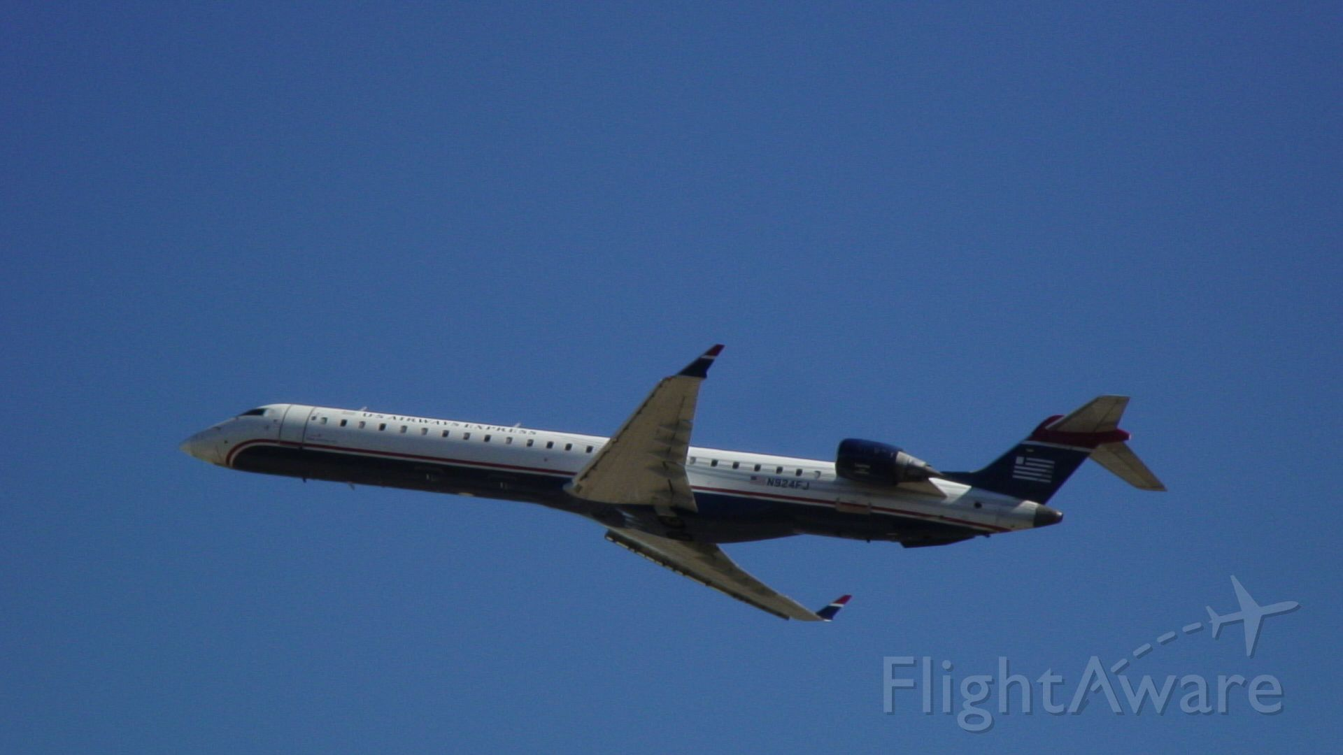 Canadair Regional Jet CRJ-900 (N924FJ) - This photo was taken at the Charlotte Airport Overlook.