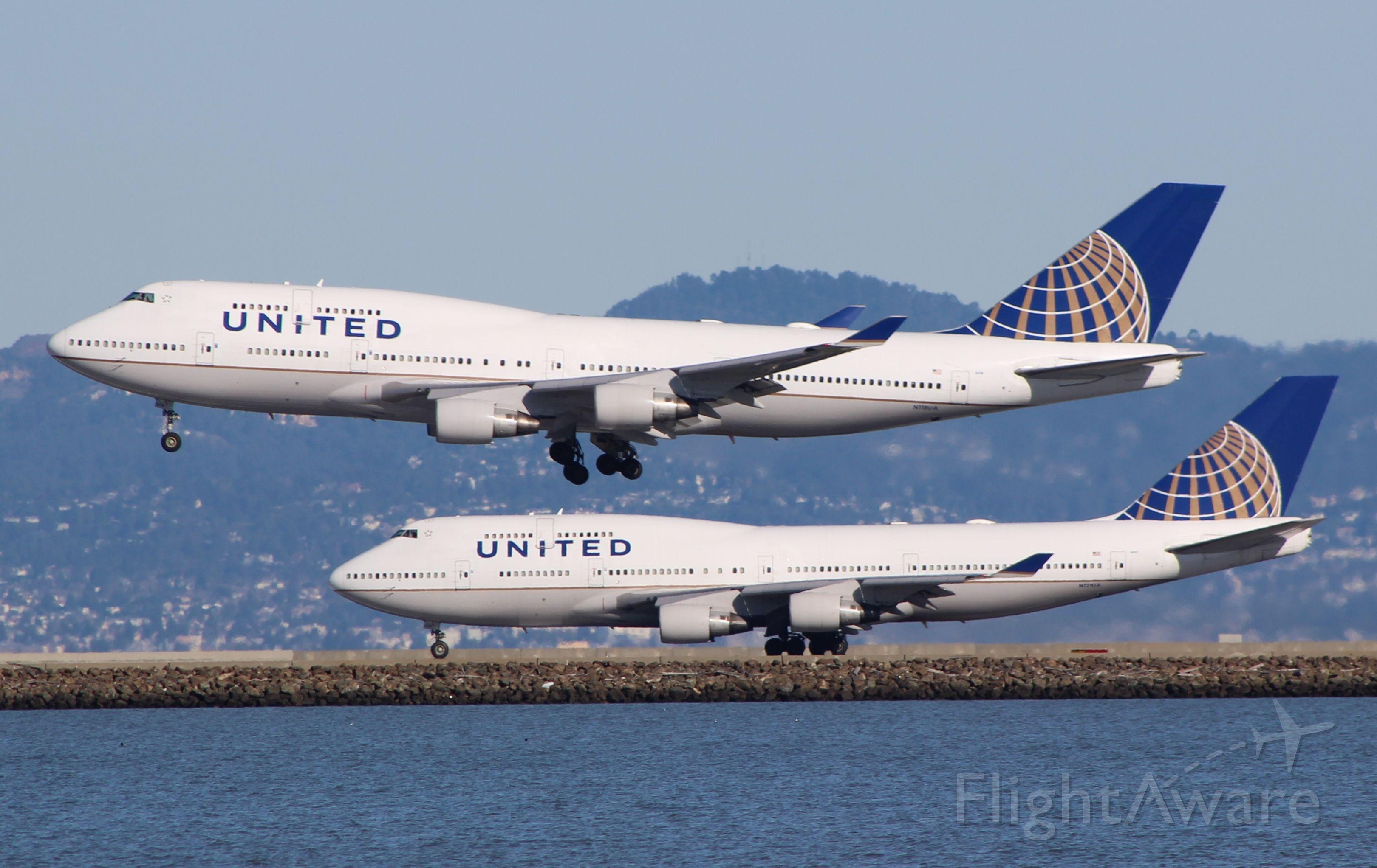 N118UA — - Farewell to the United 747!