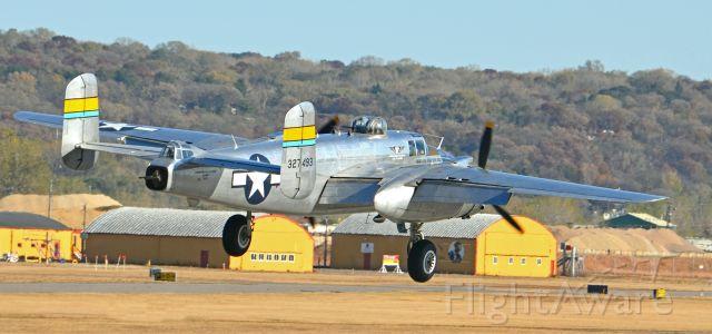 North American TB-25 Mitchell (N27493) - Landing at Holman Field St Paul, MN.