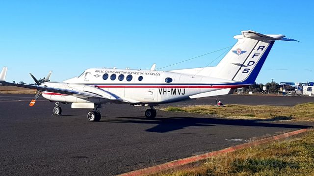 Beechcraft Super King Air 200 (VH-MVJ) - Working at Bourke