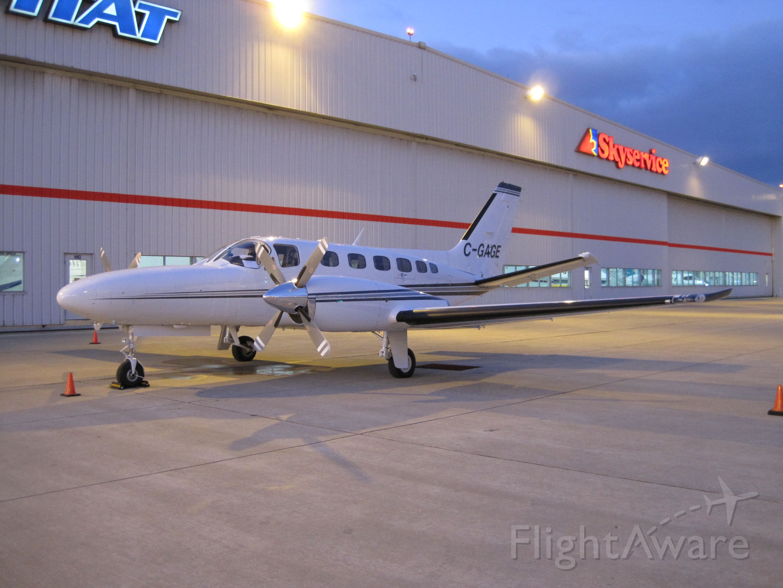Cessna Conquest 2 (C-GAGE) - (2012) Max Altitude 35,000