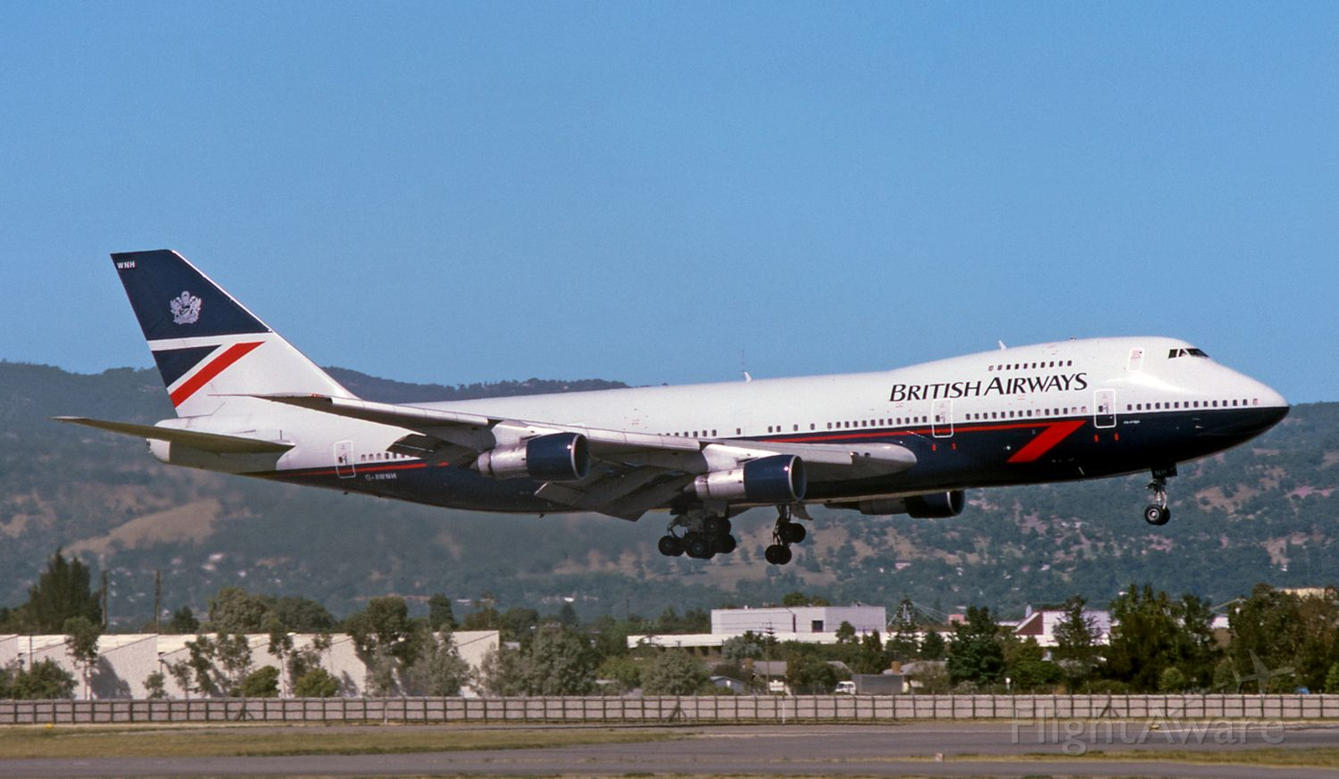 BOEING 747-100 (G-AWNH) - Adelaide, South Australia, March 25, 1985.