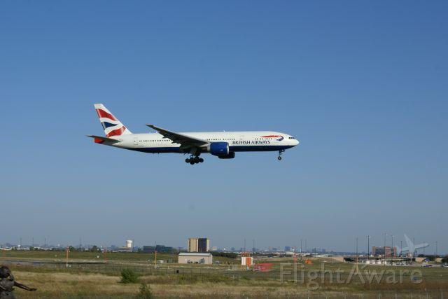 Boeing 777-200 (GVIIIU) - A trans-atlantic flight from London Heathrow.