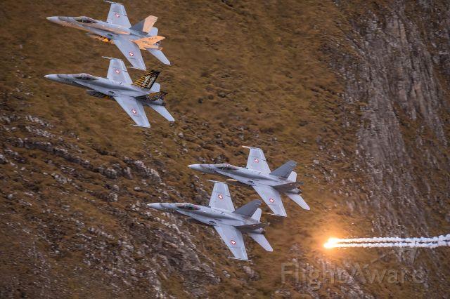 McDonnell Douglas FA-18 Hornet (J5011) - Swiss Air Force<br />Boeing F/A-18 C (J-5011) at Axalp shooting range