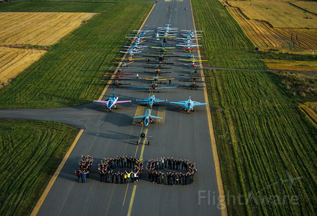 — — - Celebraiting 100 years of the air force in Norway on the same airport where the first flight took off in 1912.