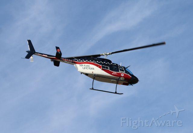 N318AE — - A Bell 206L Long Ranger 3 of the Air Evac Lifeteam EMS Services lifting off from Folsom Field, Cullman Regional Airport, AL - November 5, 2016.