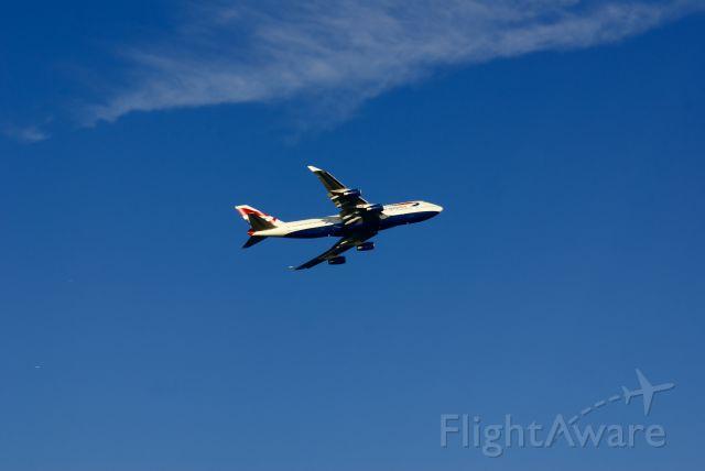 Boeing 747-400 — - British Airways 747 departing Boston.