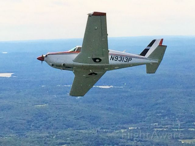 Piper PA-24 Comanche (N9313P) - flying over CONN 2014