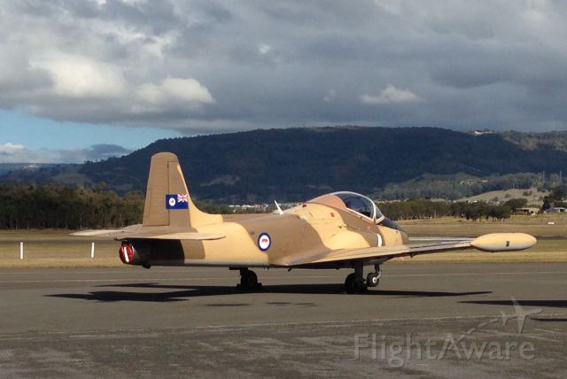 HUNTING PERCIVAL P-84 Jet Provost (VH-YZB) - Taken at Illawarra Airport HARS MUSUEM 2014
