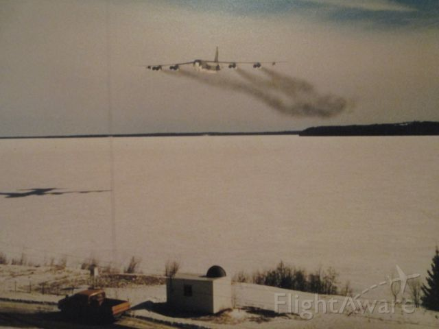 — — - B52G low level bomb run, Cold Lake, Canada.  Approximately 250 AGL.  Im in that one.