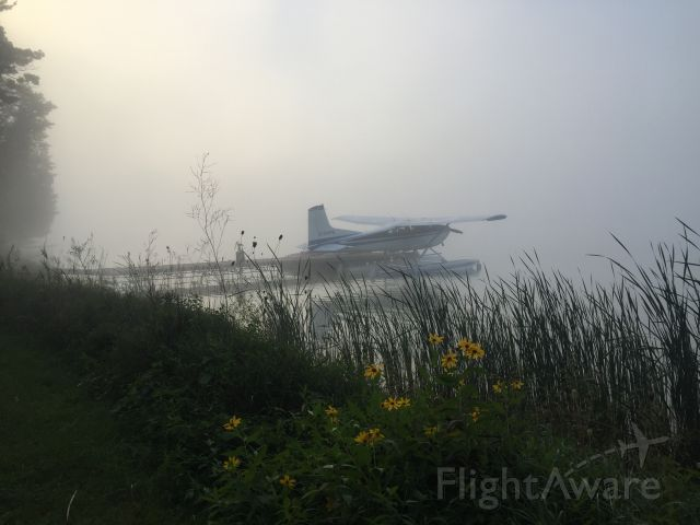 Cessna Skywagon (C-GVPE) - C-GVPE in the morning mist September 2016