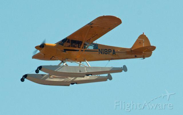 Piper L-21 Super Cub (N18PA) - Departing 27 at Carson City