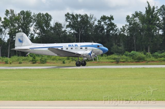 Douglas DC-3 (N28AA) - Classic Machine doing Touch and Gos