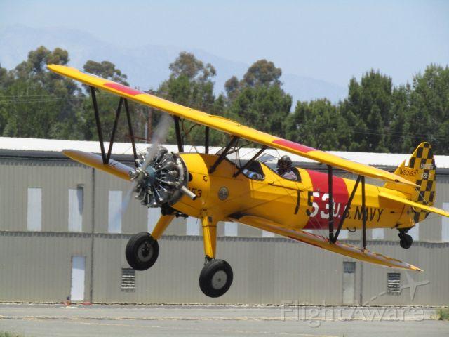 Boeing PT-17 Kaydet (N53153) - Taking off RWY 24