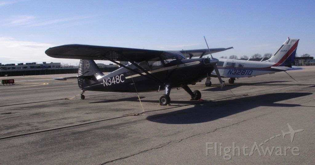 """Piper 108 Voyager (N348C) - A fabulous restoration of a vintage 1947, Stinson 108-2 Voyager, appearing proud and confident, as it reminisces about the """"Good"""