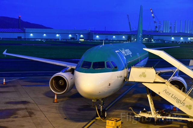 Airbus A320 (EI-DEN) - Aer Lingus Airbus A320-214 EI-DEN in Belfast City Airport
