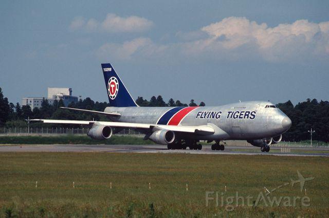 Boeing 747-200 (N803FT) - Departure at Narita Intl Airport Rwy16 on 1989/05/27