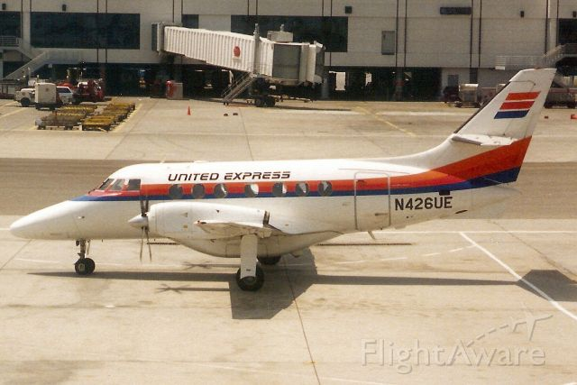British Aerospace Jetstream 31 (N426UE) - Seen here on 14-Apr-91.  With Westair Commuter Airlines from Feb-88 to Jul-01.  Registration cancelled 7-Jun-17.  Broken up at KIGM.