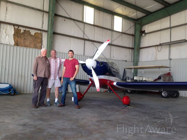 Vans RV-4 (N3369J) - Curt Hughes with his son and grandson next to his RV-4.  Hunter Hughes is his grandson graduating from UPT st CAFB June 9, 2017.