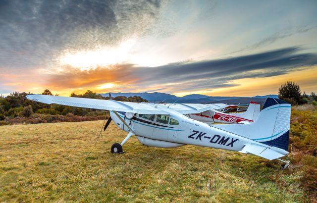 Cessna Skywagon (ZK-DMX) - Te Anau Downs airstrip, NZ.