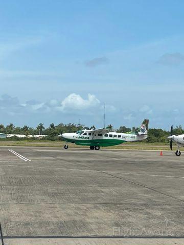 Cessna Caravan (V3-HIB) - Maya Island Air taxing to runway at BZE April 9,2021