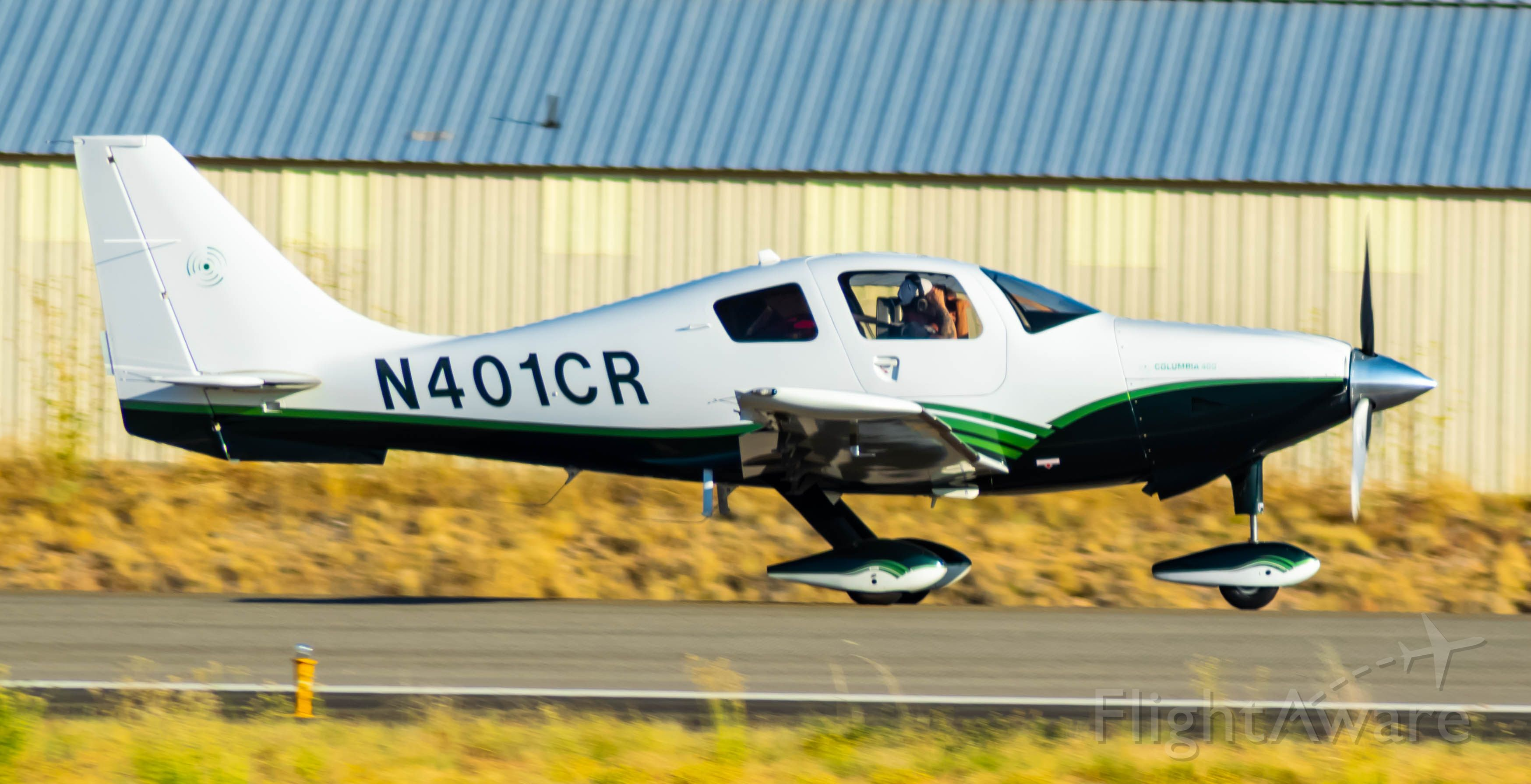 Cessna 400 (N401CR) - Runway 21L Landing Rollout