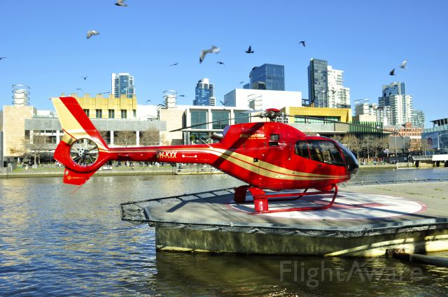 HARBIN HC-120 (VH-KXX) - Microflite Helicopter Services Eurocopter EC-120B Colibri VH-KXX in Melbourne City Helipad