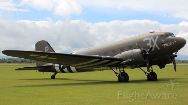 Douglas DC-3 (N473DC) - The D-day Anniversary Air Show Duxford  24th May 2014 Douglas C-47A skytrain