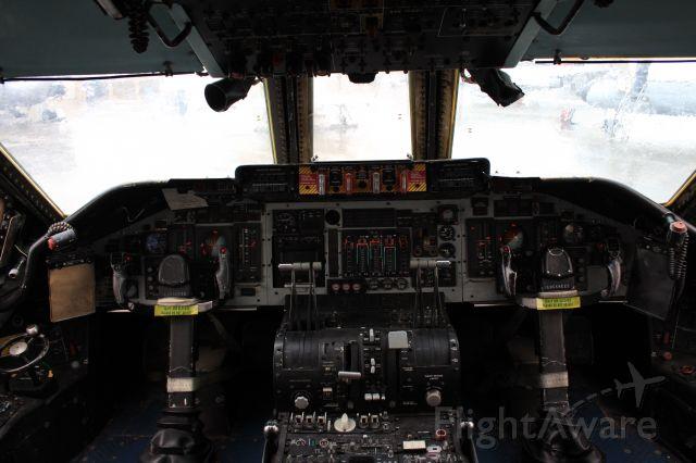 Lockheed C-141 Starlifter — - flight deck of retired C141B transport