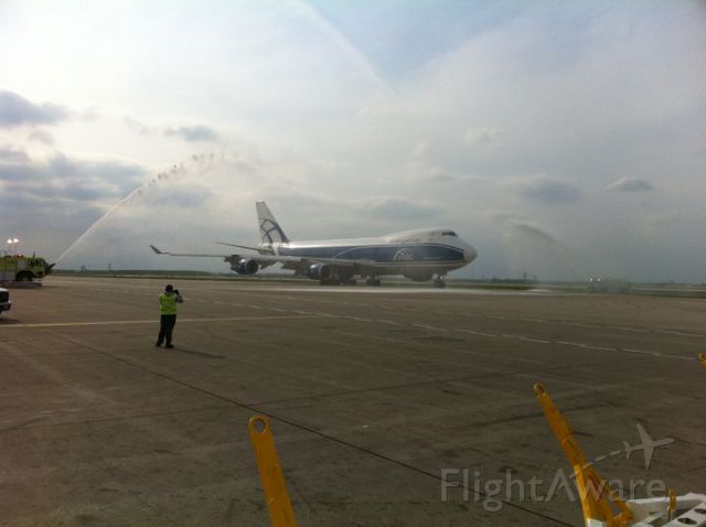 VP-BIM — - Air Bridge Cargo First Flight into Ohare Int